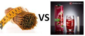 alimentos sanos vs alimentos azucarados, dieta y pérdida de peso