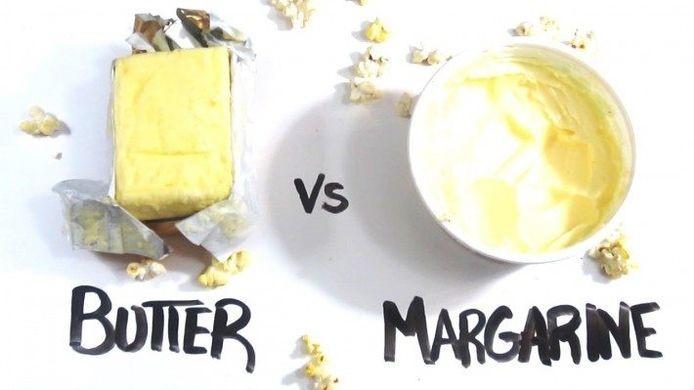 mantequilla o margarina. Cuál escoger. Es mejor la mantequilla o la margarina