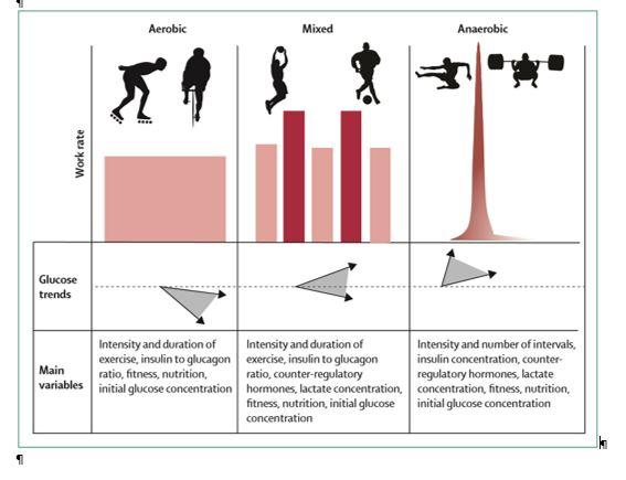Variabilidad de glucosa en sangre durante el ejercicio físico. Centro Pronaf