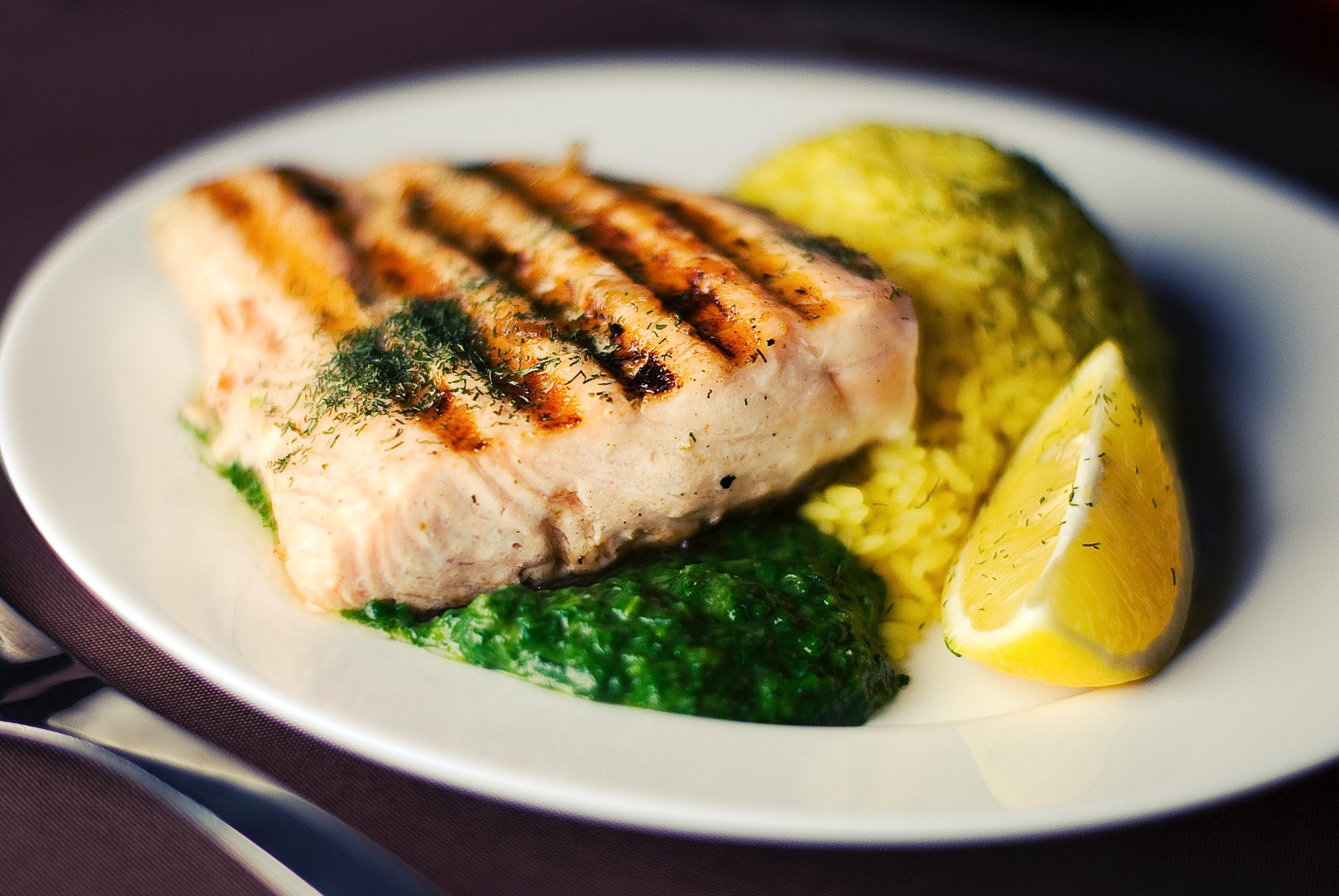 Plato saludable para dietas de pérdida de peso