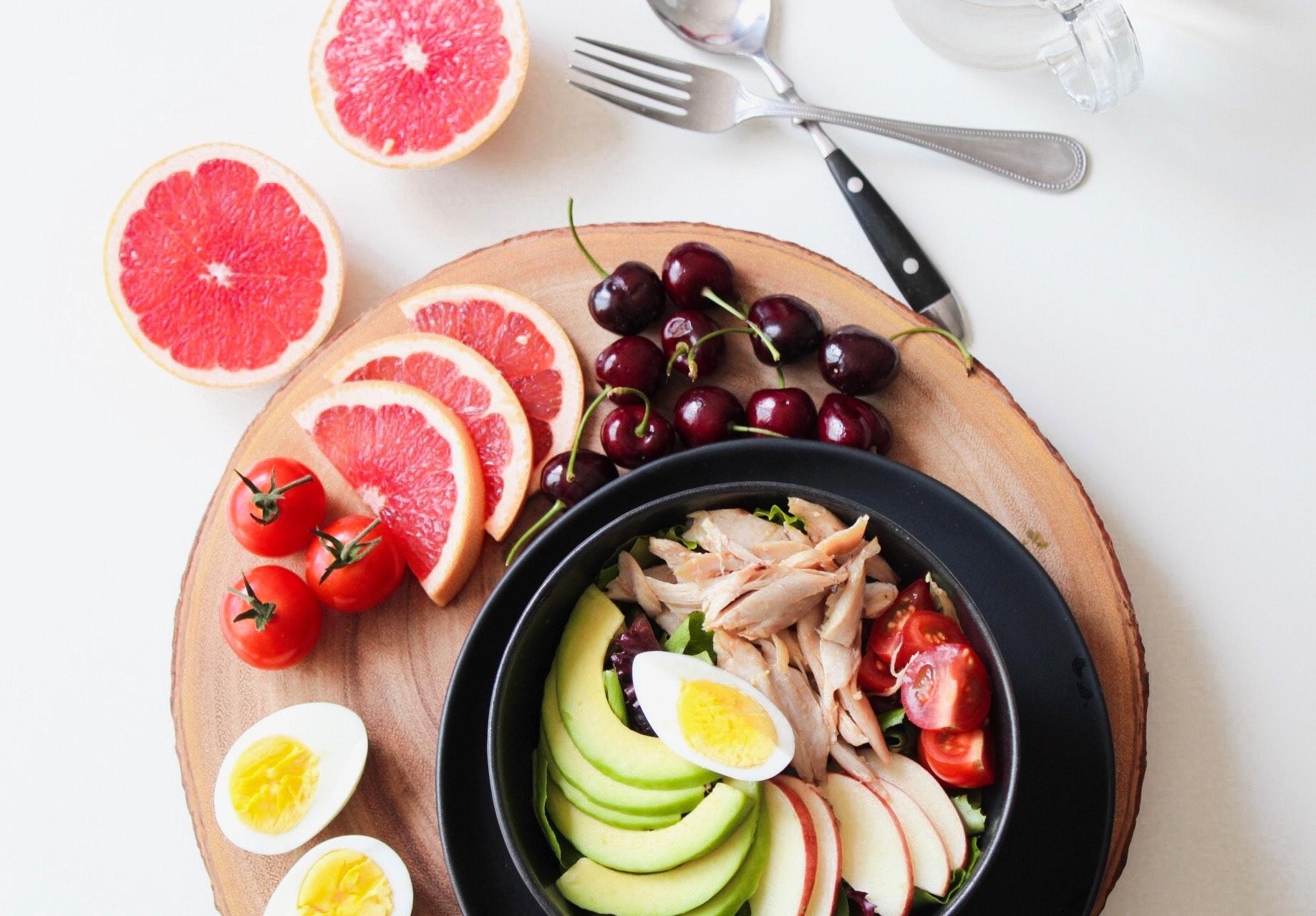 Vegetales y frutas para tus comidas saludables
